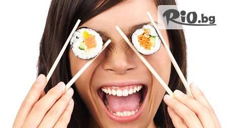 Суши сет с до 67 % отстъпка - 36 хапки за 9,99 лв. или 72 хапки за 19,99 лв. от Syshilive!