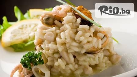 Морско изкушение по избор с миди, калмари и скариди на цена от 2.45 лв. ресторант