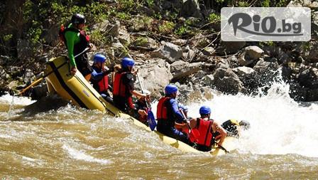 Заредете с адреналин! Рафтинг + 3 спускания по тролей над река Струма или каньонинг, от Рафтинг център Рефлип