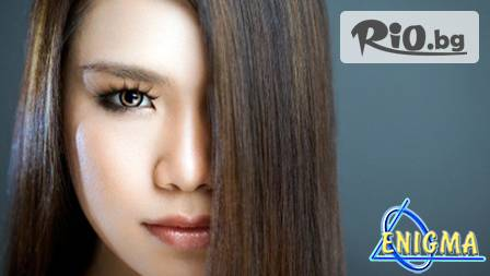 """Silk Терапия за коса + подстригване, масажно измиване, сешоар и стайлинг за 19,90 лв. вместо за 40 лв. от Верига Лазерни центрове """"Енигма"""""""