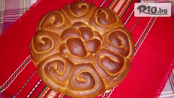 Обредна погача с орнаменти за вашия специален празник- 1, 2 или 3 килограма, от Работилница за вкусотии Рави