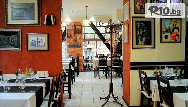 Апетитно хапване за двама! Младо печено теленце + печени картофки + зелени салати микс, от BG wine Restorant