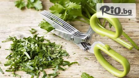 Ножица за свежи подправки и зеленчуци с 10 остриета само за 11,49лв.! Забрави за досадното кълцане!