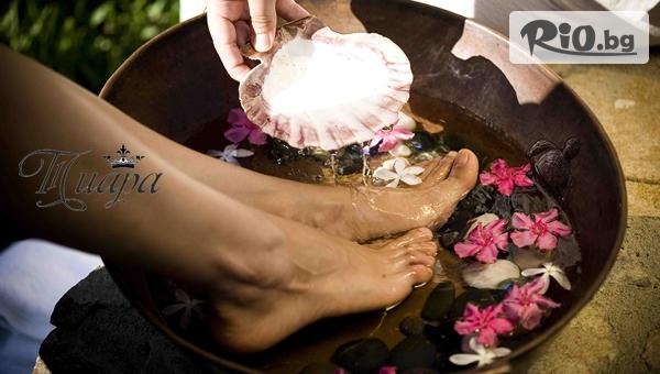 Парафинова терапия на ръце или Детоксикация с масаж на стъпала, от Салон за красота Тиара