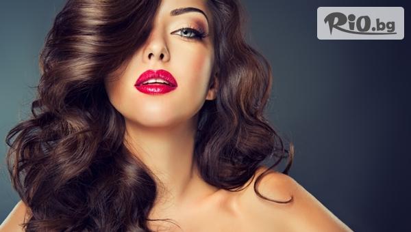 Полиране на коса с полировчик или Арганова или Кератинова терапия за силно увредена коса, от Салон за красота Диамант