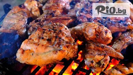 Месно плато 1600гр за компания: татарски кюфтета ,пилешки шишчета, домашна наденица, пилешка пържола бут за 14,99лв. вместо 32лв.