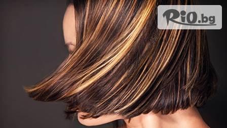 Терапия за коса с коралово водорасло с или без подстригване + изсушаване, оформяне и подарък плитка от 5.90лв в Студио Angel Face