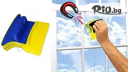 Mini Magnetic Glass Cleaner - Уред за почистване на прозорци за 9.99 лв., вместо 20 лв