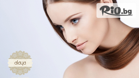 Блясък с трайно изправяне за коса + кератинова терапия + издухване на супер цена от 29лв. вместо 120 лв.!