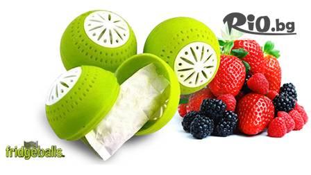 3 броя FRIDGEBALLS магически топки, които запазват свежестта на храната в хладилника за 6.49 лв., вместо 24 лв.