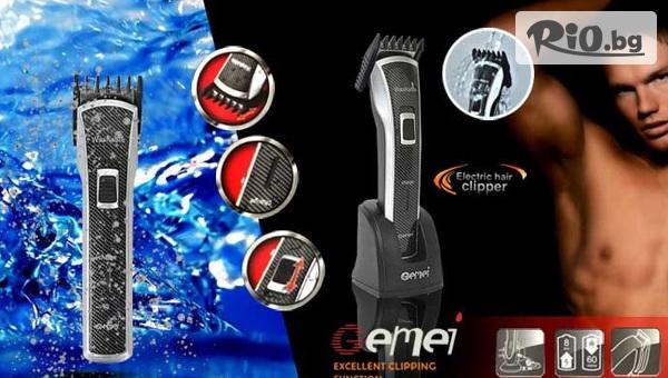 Машинка-тример GEMEI GM-710 с акумулаторна батерия за подстригване на брада, тяло и глава, от Hipo.bg