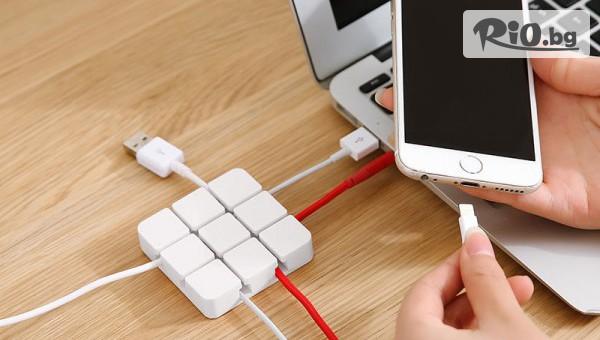 Силиконов органайзер за кабели #1