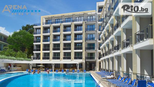 Почивка в Златни пясъци през Април и Май! Нощувка на база All Inclusive + СПА пакет с вътрешен отопляем басейн, от Хотел Арена Мар 4*