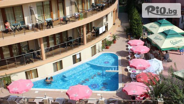 На море в Китен през цялото лято! Нощувка със закуска за двама + открит плувен басейн, от Хотел Съни Парадайз 3*