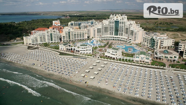 Луксозна All inclusive почивка на брега на морето с включен външен басейн + чадър и шезлонг в Хотелски комплекс Сънсет Ризорт 5*, Поморие
