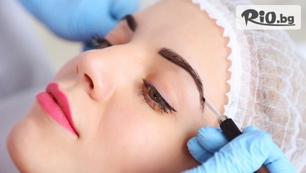 3D Микроблейдинг на вежди + поставяне на естествени мигли косъм по косъм, от Салон Bliss