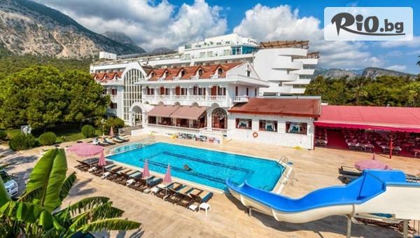 Почивка в Анталия, Турция! 7 нощувки на база All Inclusive в Larissa Mare Beach 4* + СПА, басейни, шезлонг, чадър, от Караджъ Турс