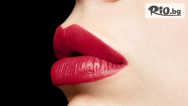Влагане на филър със 100% чиста хиалуронова киселина за неинвазивно уголемяване на устни или запълване на бръчки, от Салон за красота Стил - Таня Райкова