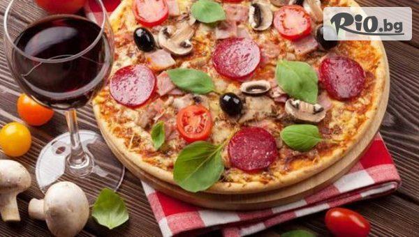 Вкусно меню за двама - 2 порции паста или 2 пици по избор от менюто + 2 чаши вино, от Италиански ресторант Слънчевата къща