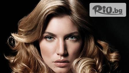 Възстановяваща арганова терапия за коса и стайлинг по желание само за 9.90 лв. от Вега Център