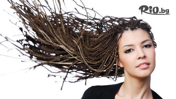 Афроплитки със специална не утежняваща косата и не задържаща вода прежда, от Студио Рубин