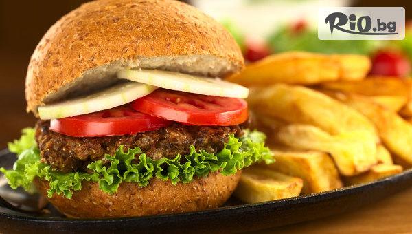 Бургер меню + пържени картофи #1