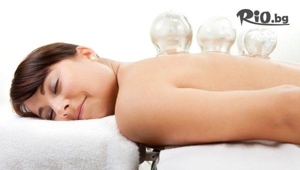 40-минутен лечебен масаж на гръб с вендузи или ултразвук, от Масажно студио Тандем Карина