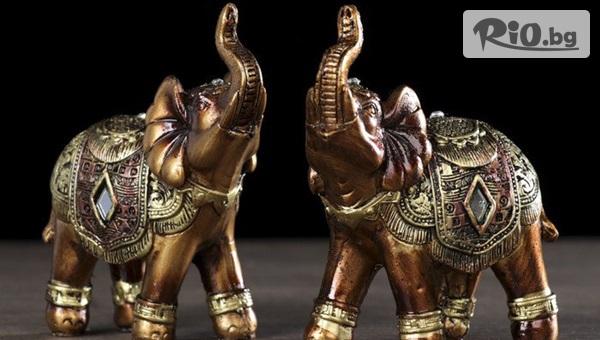 Подарък за късмет и успех! Сувенир слончета статуетки 2 фигурки, от Svito Shop