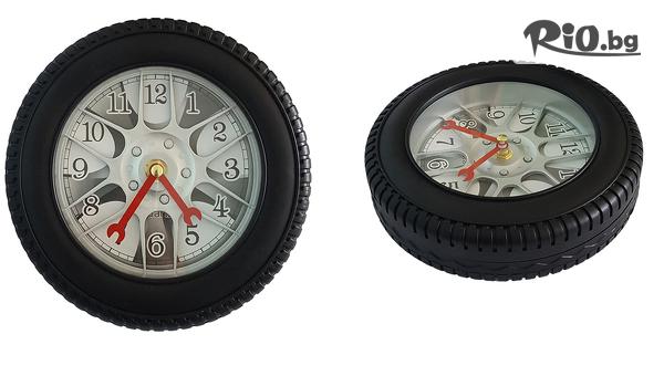 Стенен часовник с форма на автомобилна гума, от Svito Shop