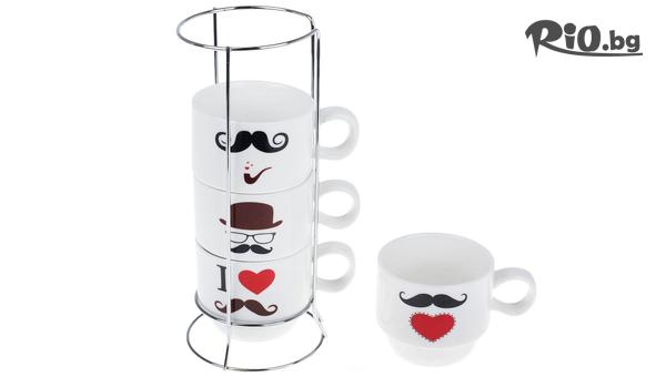Комплект от 4 броя забавни Керамични чаши, от Svito Shop