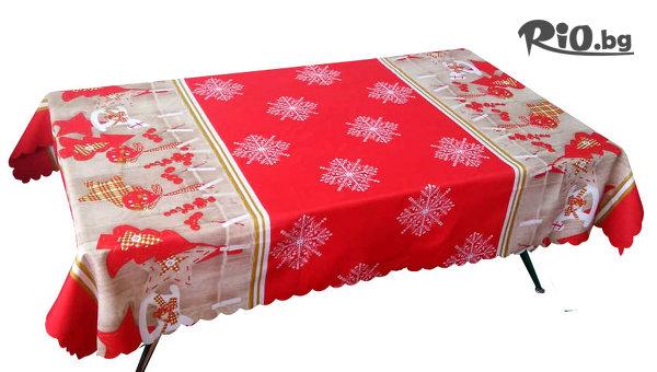 Коледна текстилна покривка за маса 110 x 150см, от Svito Shop