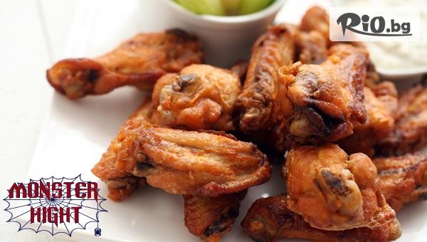 Пилешки крилца + картофи #1