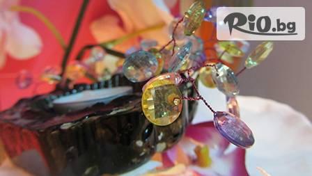 Ръчно изработен СВЕЩНИК с кристали за 6,99 лева от