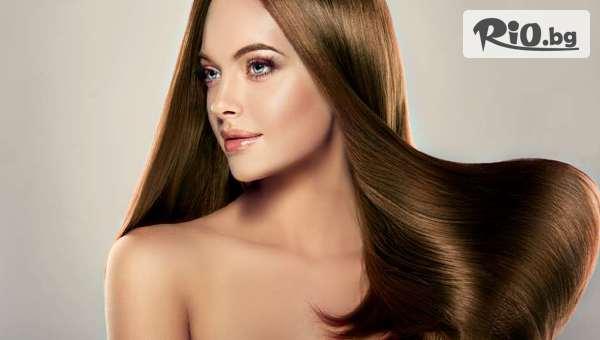 Боядисване на коса с боя на клиента, Арганова терапия за коса или Масажно измиване и оформяне на прическа, от BEL beauty studio