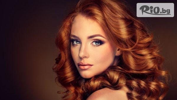 Боядисване на коса с боя на клиента или Кератинова терапия за коса + оформяне на косата със сешоар или преса, от Салон за красота Temple of Beauty