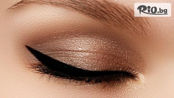 Полуперманентен грим - опушена очна линия + ретуш, от Студио за красота Донита