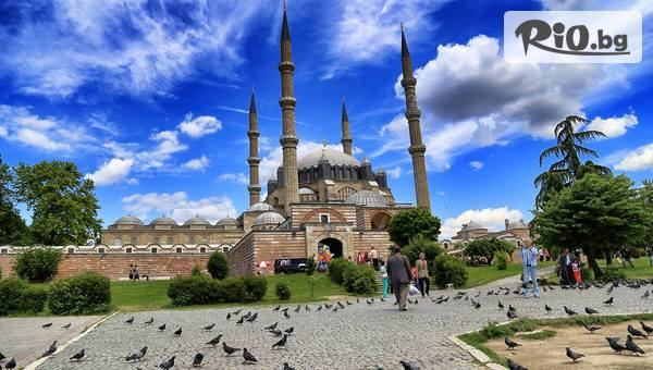 """Еднодневна шопинг екскурзия до Одрин с тръгване от Бургас и Варна + транспорт, водач, посещение на джамия """"Селимие"""" и """"Margi Outlet"""" и Лозенград, от Караджъ Турс"""