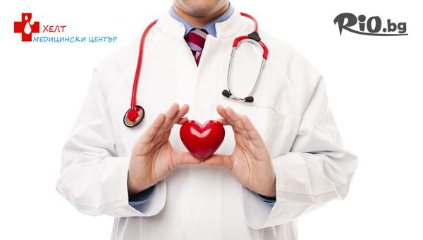 Обстоен преглед от ангиолог (специалист съдови болести) + еходоплер – ехография на кръвоносни съдове, от Медицински център ХЕЛТ
