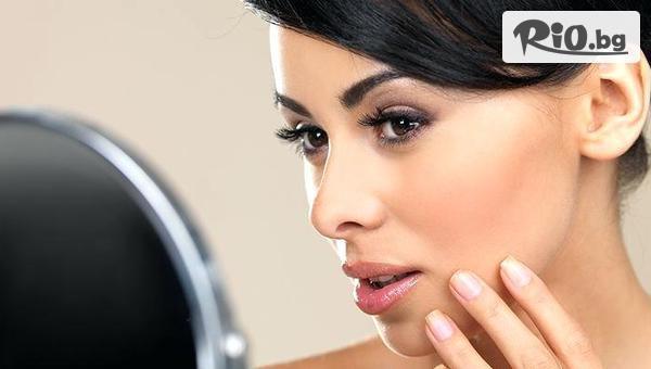 Почистване с ултразвук, подхранване с безиглена мезотерапия и светлинна терапия за кожа, страдаща от акне с 58% отстъпка, от Център Здраве и красота