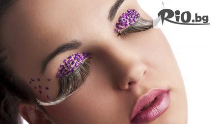 Удължаване и сгъстяване на мигли чрез поставяне на снопчета, косъм по косъм или 3D, от Студио за красота Diamond House