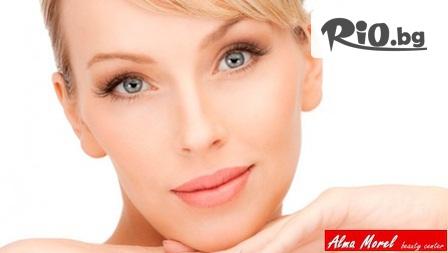 Лифтинг на околоочен контур с мезотерапия и хиалуронова киселина за намаляване на бръчките около очите, от Бутиков козметичен център Alma Morel