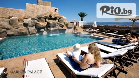 Луксозна почивка в Несебър! Нощувка със закуска + открит басейн с джакузи, шезлонг и чадър, от Хотел Мариета Палас 4*