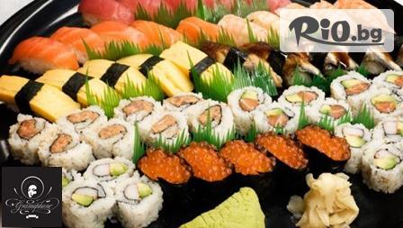 Суши сет с 34 хапки