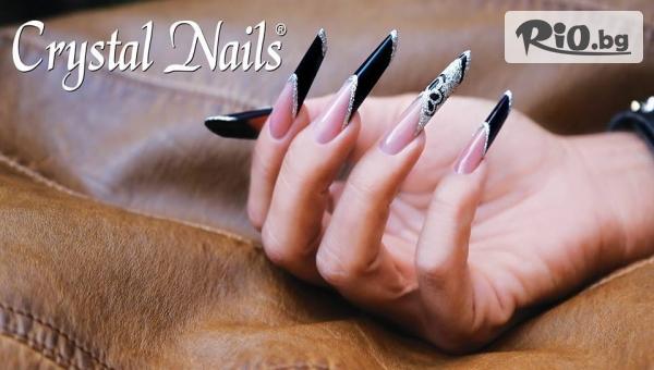 Спа Маникюр + Ноктопластика с гел Crystal Nails, гел лак Canni / Bluesky и декорации + бонус: масаж на ръце, от Abir's Code Studio