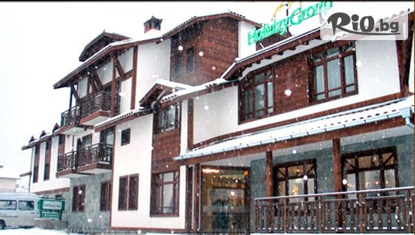 На ски в Банско през Декември! Нощувка със закуски и вечеря, по избор + сауна и транспорт до начална станция на лифта, от Хотел Холидей Груп