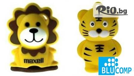 USB памет с форма на слонче, лъв, тигър или коала за 12,60 лв. от туй-онуй.com! Весел подарък от колекцията на Maxell!