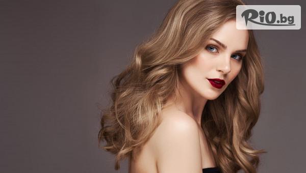 Подхранване на косата с кератинова терапия + стайлинг с 52% отстъпка, от Tesori Beauty Salon