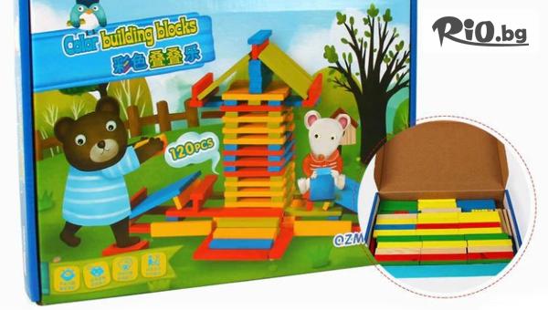 Детски дървен конструктор #1
