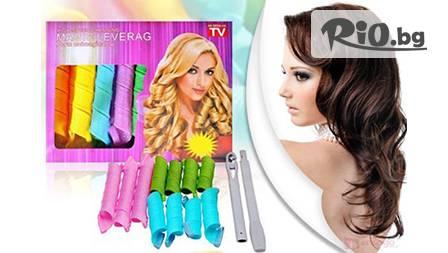 Изкусителни вълнообразни къдрици с ролки за коса Magic Leverag за 6.39 лв от www.ang-tv.com