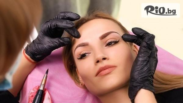 Микропигментация на вежди - Омбре или Косъм по косъм с 50% отстъпка, от Малаковалашес